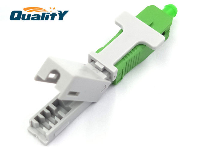 Pre - Embedded Type Optic Fiber Quick Connector Main Body Length 53mm / Sc Apc Fast Connector