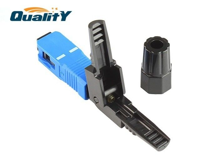 3mm Drop  3x2mm Flat Cable  Optic Fiber Fast Connector For LAN Environments / Sc Fast Connector