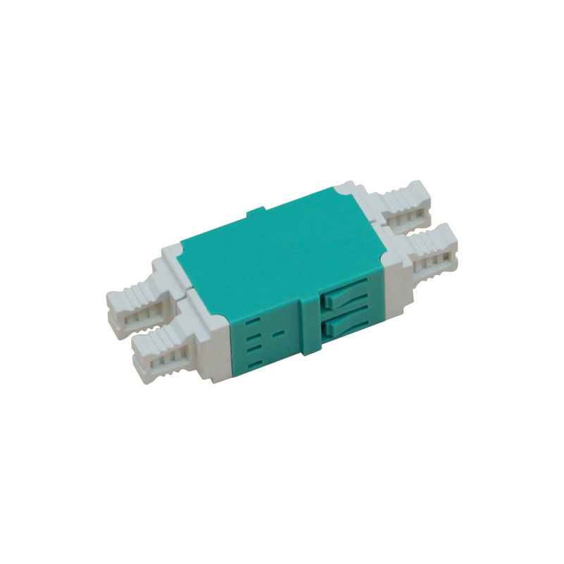 Multi Mode LC OM3 Quadruple Fiber Optic Adapter